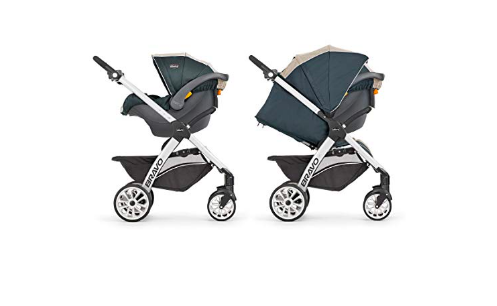 Chicco Bravo Trio Travel System has a weatherproof canopy