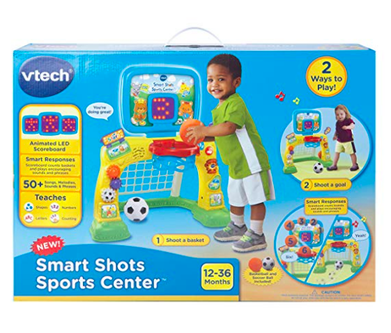 The VTech Smart Shots Sports Center comes in a convenient packaging