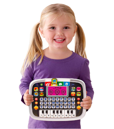 The VTech Little Apps Tablet is lightweight and portable