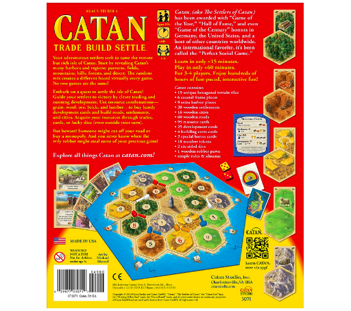 Catan is a strategic game that requires logical thinking.