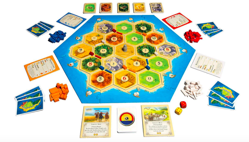Catan has a great replay thanks to the open-ended nature of the game.