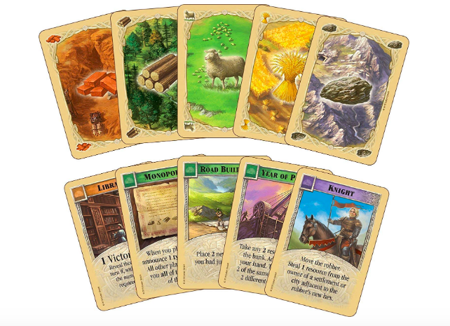 Catan board game cards