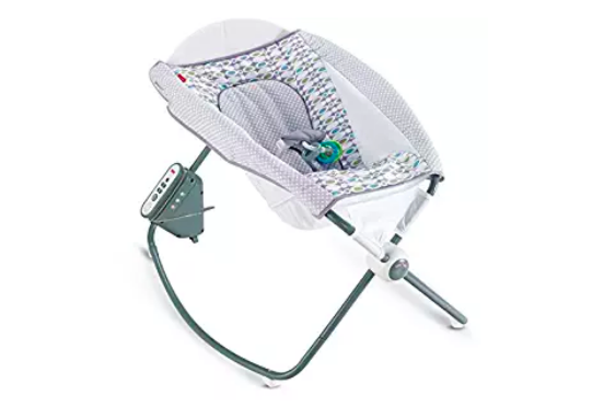 Fisher-Price Auto Rock 'n Play Sleeper has 2 rocking speeds and features 12 soothing songs.