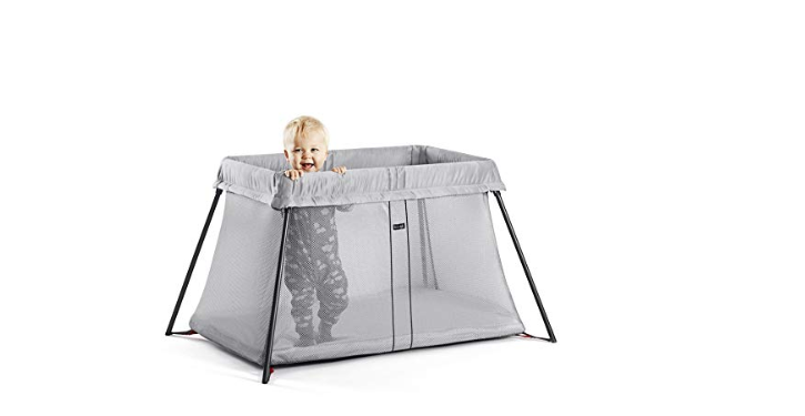 The BabyBjorn Travel Crib Light  i tall enough to keep toddlers inside.