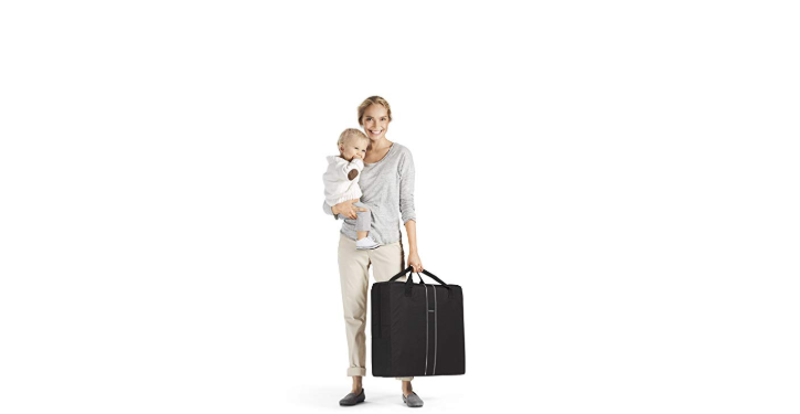 The BabyBjorn Travel Crib Light comes in a convenient carrying bag.