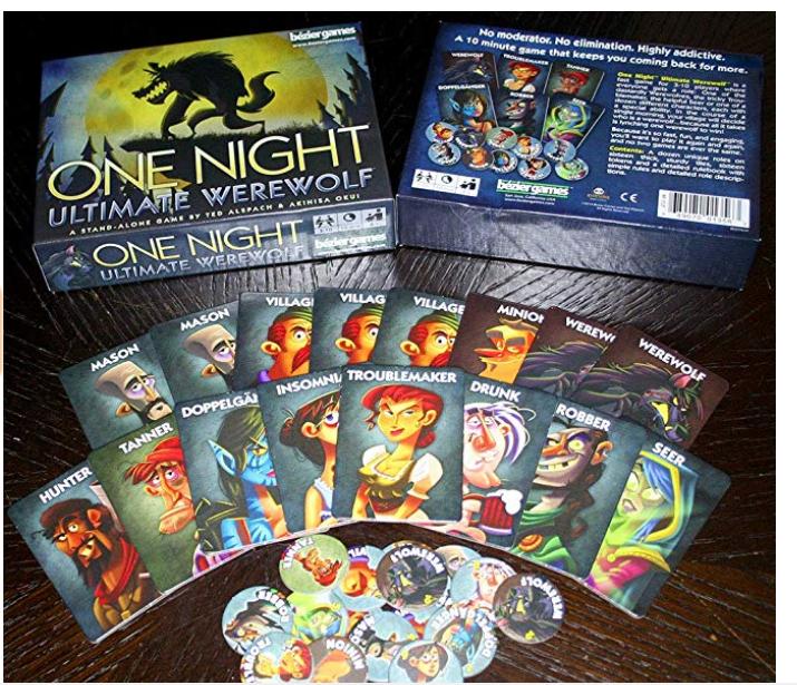 One Night Ultimate Werewolf game components