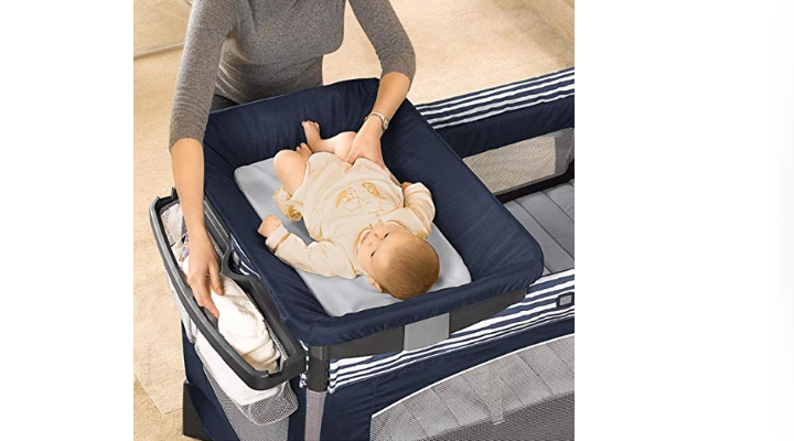 The Chicco Lullaby Baby Playard changing station.
