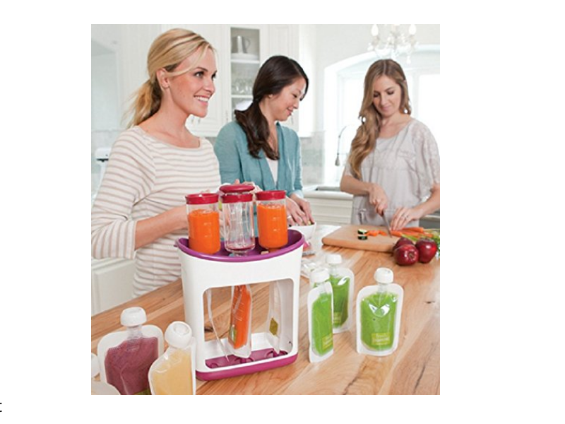 Infantino Squeeze Station Baby Food Maker is convenient and easy to use.