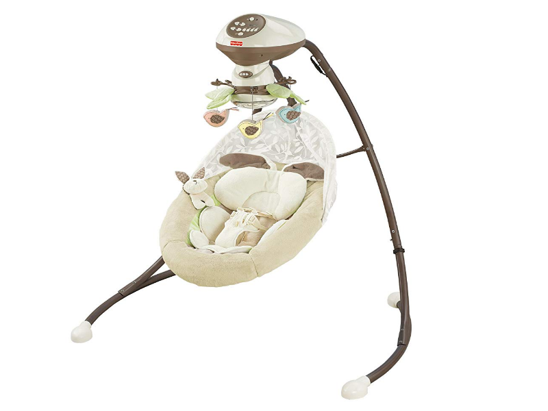 The Fisher Price Cradle 'n Swing features the SmartSwing technology.