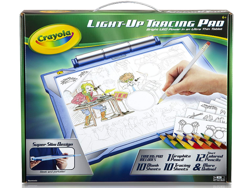 The Crayola Light-up Tracing Pad is conveniently packed