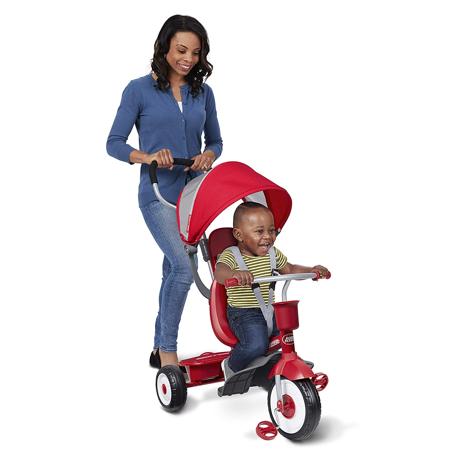 The Radio Flyer 4 In 1 Stroll N Trike is easily maneuverable for both the parent & the child