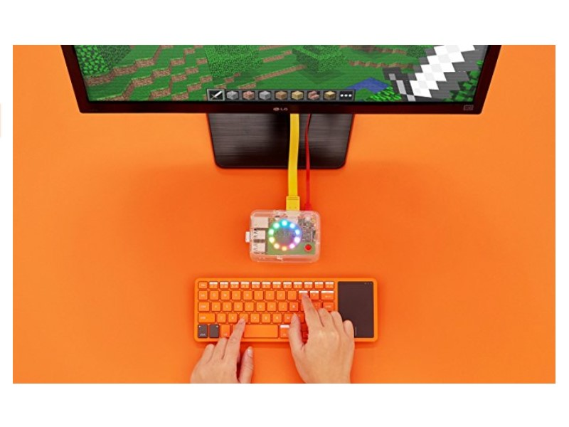 The Kano Computer Kit features a tiny keyboard for basic operations
