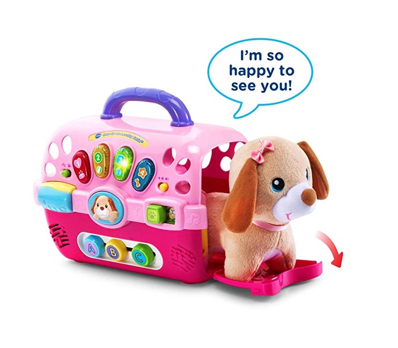 VTech Care for Me Learning Carrier features and adorable plush puppy