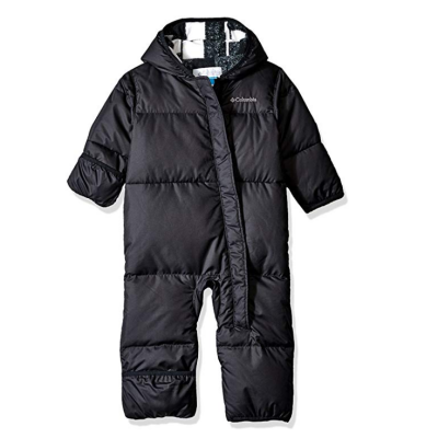 columbia snuggly baby snowsuit black