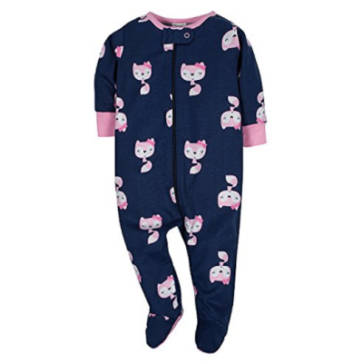 gerbers sleep n' play baby pajamas zip front