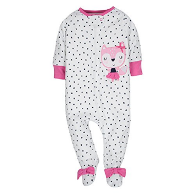 gerbers sleep n' play baby pajamas fitted sleeves