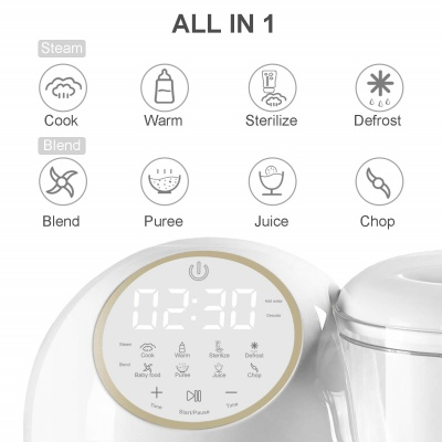 bable all-in-1 baby food processor features