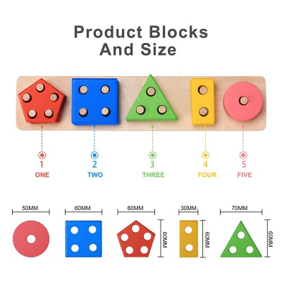 10 Month Old Toys Bettroom Wooden Blocks Measurements