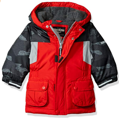 oshKosh b'gosh blocked baby coat red