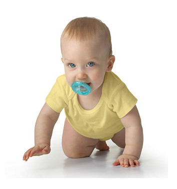 The Nuby 2-Pack Soft-Flex Orthodontic Pacifiers are BPA free.