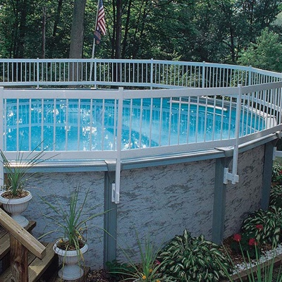 GLI Above Ground Base Kit Best Pool Fences side view