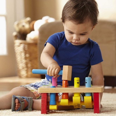 10 Month Old Toys Melissa Doug Wooden Bench Baby
