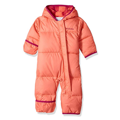 columbia snuggly baby snowsuit pink