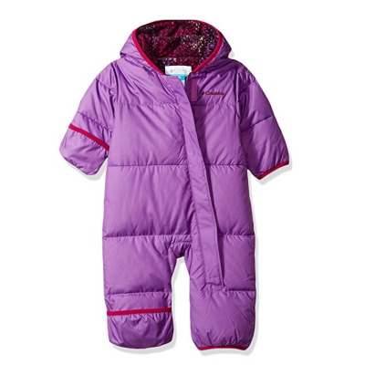 columbia snuggly baby snowsuit purple