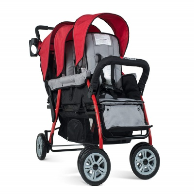 foundations trio sport triplet stroller side wheels