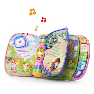 vTech musical rhymes book sensory toy for toddlers open