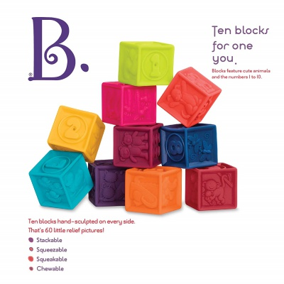 B. Toys B. One Two Squeeze Blocks gift for 1 year girl
