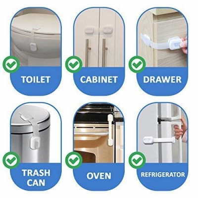 A Wide Selection Of Colours And Designs Baby Safety & Health Baby Initiative Child Cabinet Door Drawer Refrigerator Toilet Safety Plastic Lockb