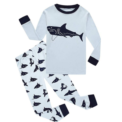 family feeling space baby pajamas shark pattern