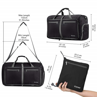 gonex 60L water repellent hospital bag measurements
