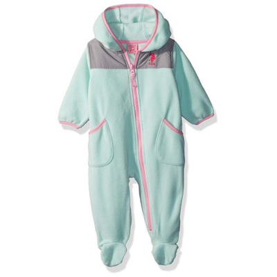 us oplo assn girls pram baby snowsuit blue