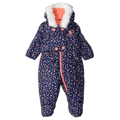 us oplo assn girls pram baby snowsuit dots
