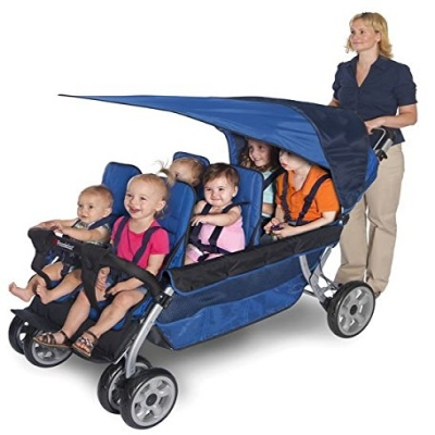 foundations worldwide regette triplet stroller blue