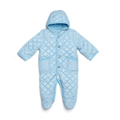 leveret quilted baby snowsuit blue