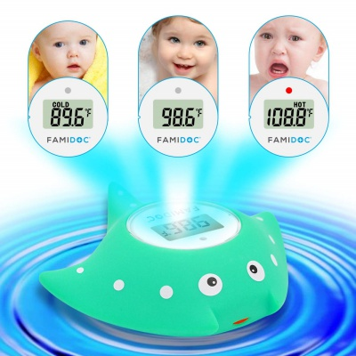 famidoc baby bath thermometer features