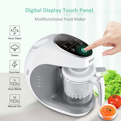 infanso BF300 7 in 1 baby food processor digital touch