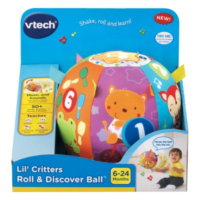 vTech lil' critters roll & discover ball sensory toy for toddlers package