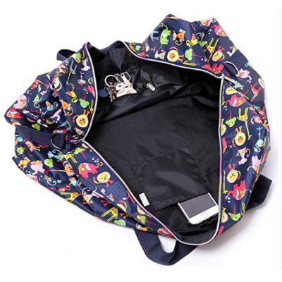 WFLB large foldable floral hospital bag inside