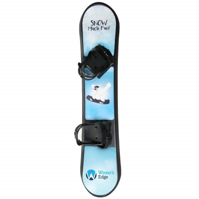 winter's edge plastic snowboard for kids blue