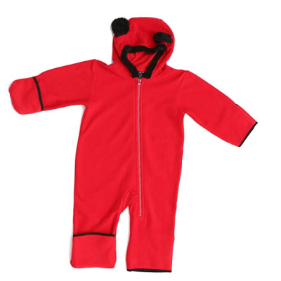 at the buzzer baby snowsuit red