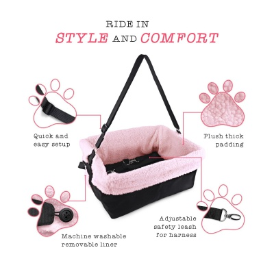 stella and bear cozy dog car seat features