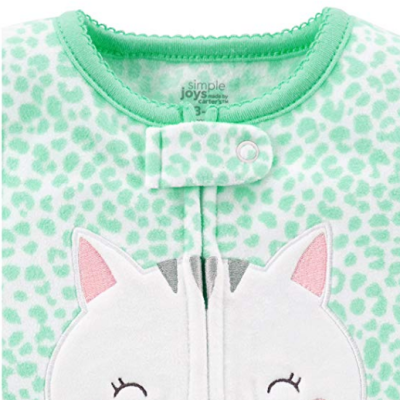 simple joys carter's baby girls pajamas zipper