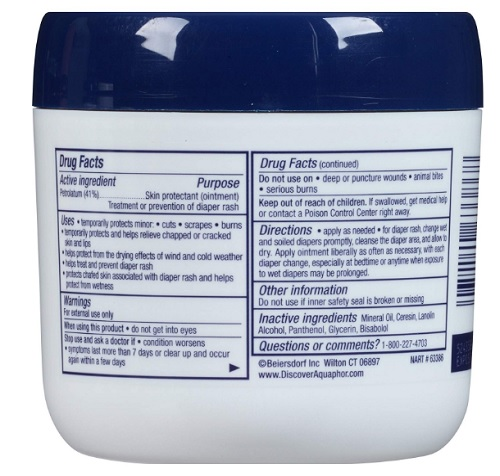 aquaphor ointment baby lotion ingredients