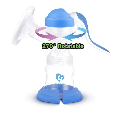 Bellababy 270° Rotatable Soft Manual breast pump 360 degree