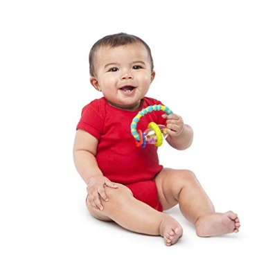 5 Month Old Toys Bight Starts Grab and Spin Rattle Baby