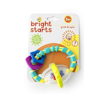 5 Month Old Toys Bight Starts Grab and Spin Rattle Package
